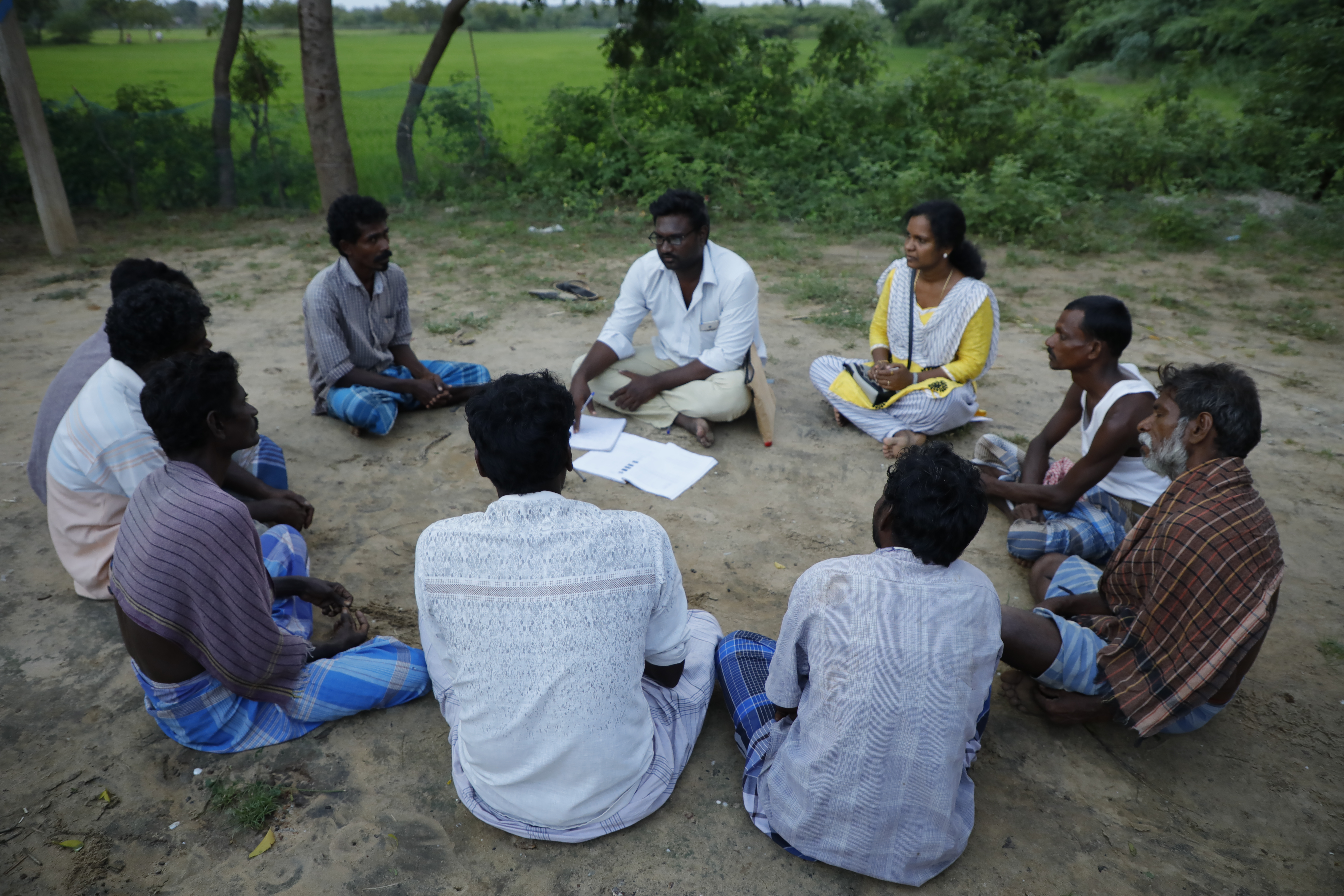 Focused group discussion with Dalit labourers