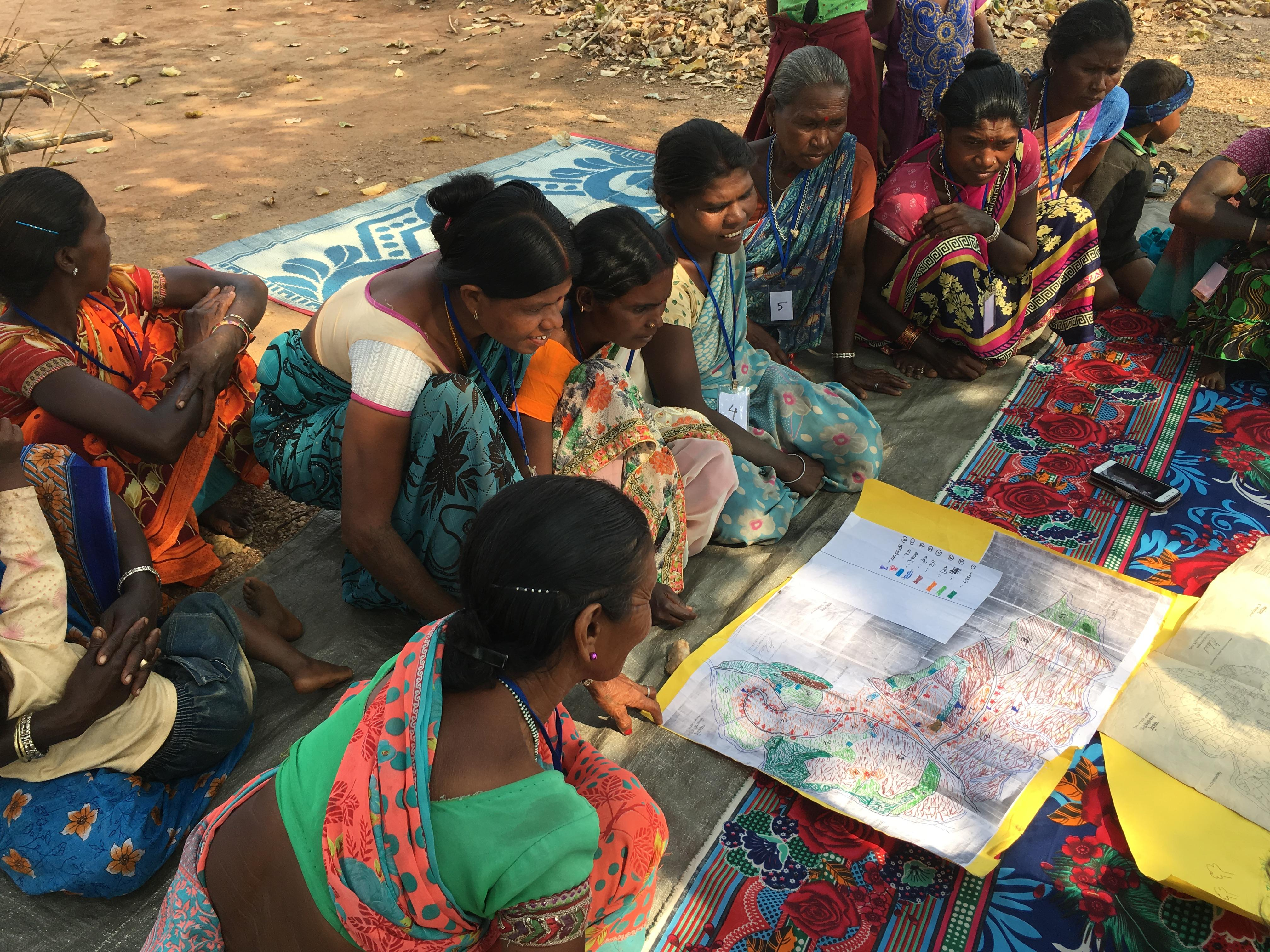 Women take part in a focus group discussion in Chakai